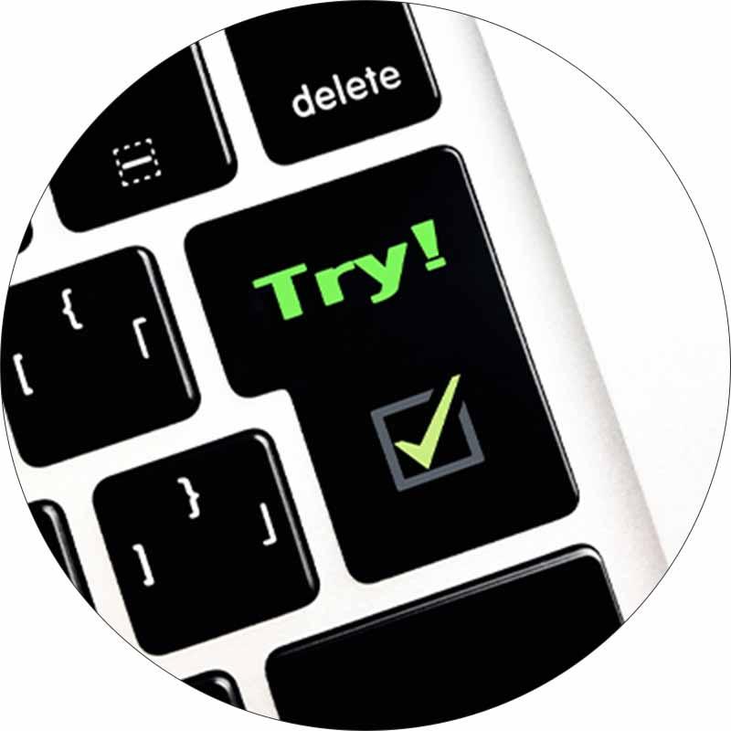 「Try!」と書かれたエンターキー